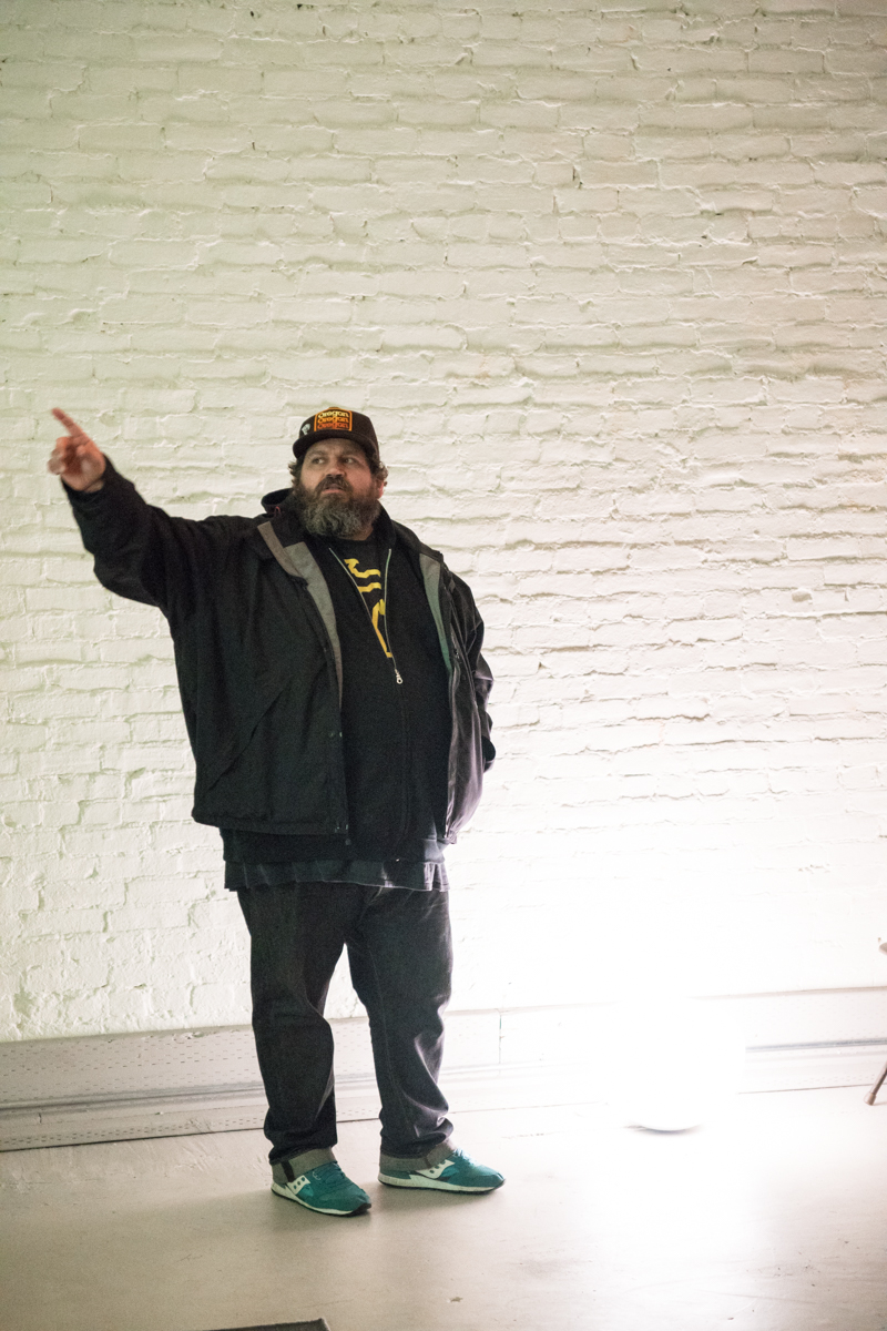 Aaron Draplin presents at AIGA Portland.