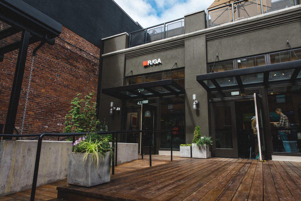 R/GA's brand new agency space in Portland, OR.