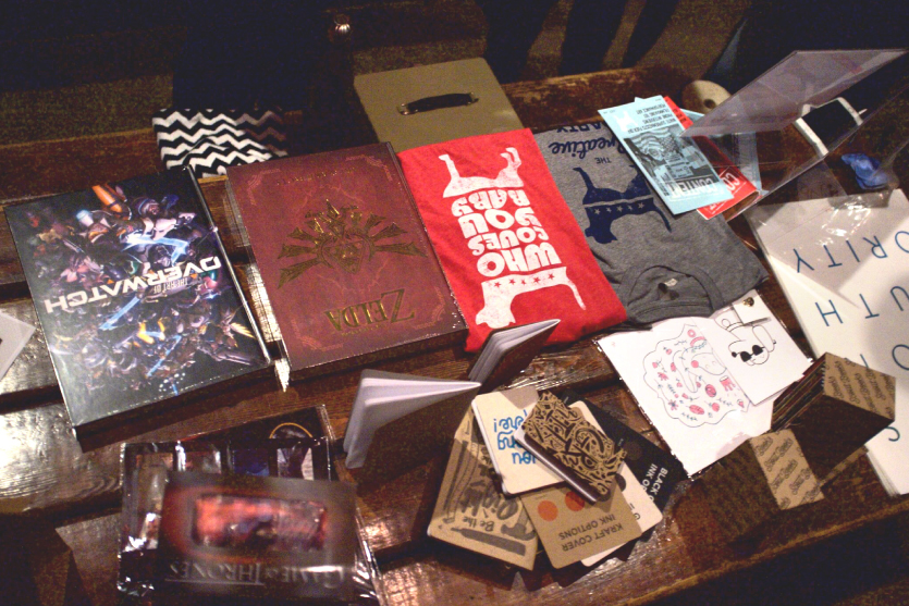Goods that were raffled away in support of the Oregon Humane Society.