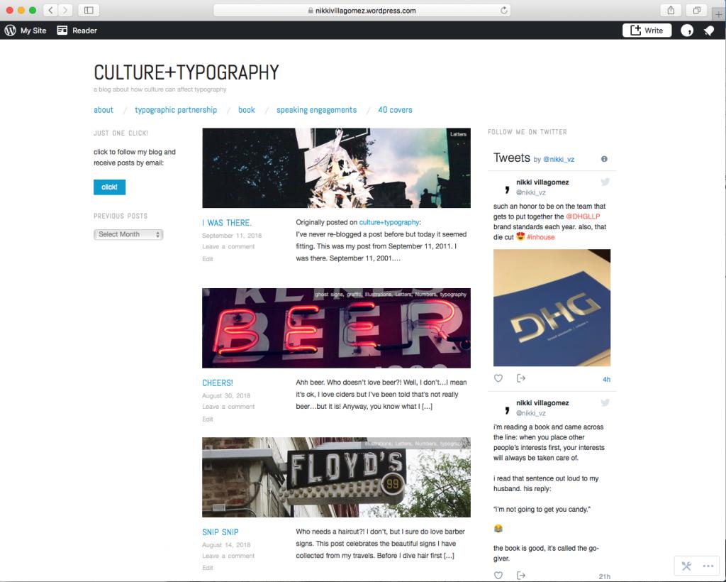 Culture + Typography Website